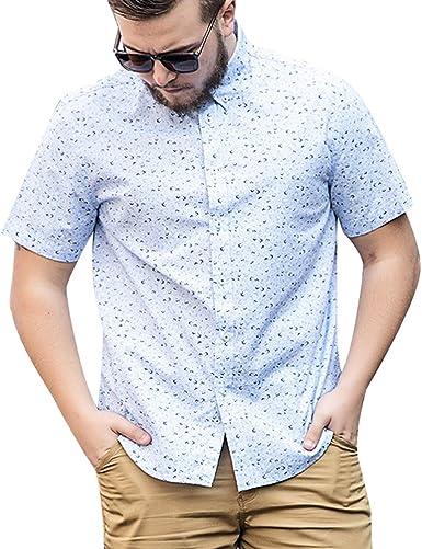 Dooxii Hombre Verano Manga Corta Tamaño Grande Camisa Moda ...