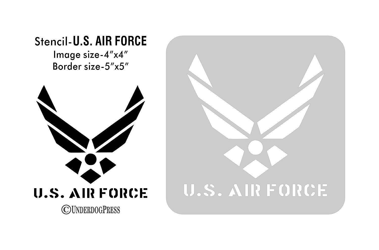 Amazon large stencil us air force handmade biocorpaavc