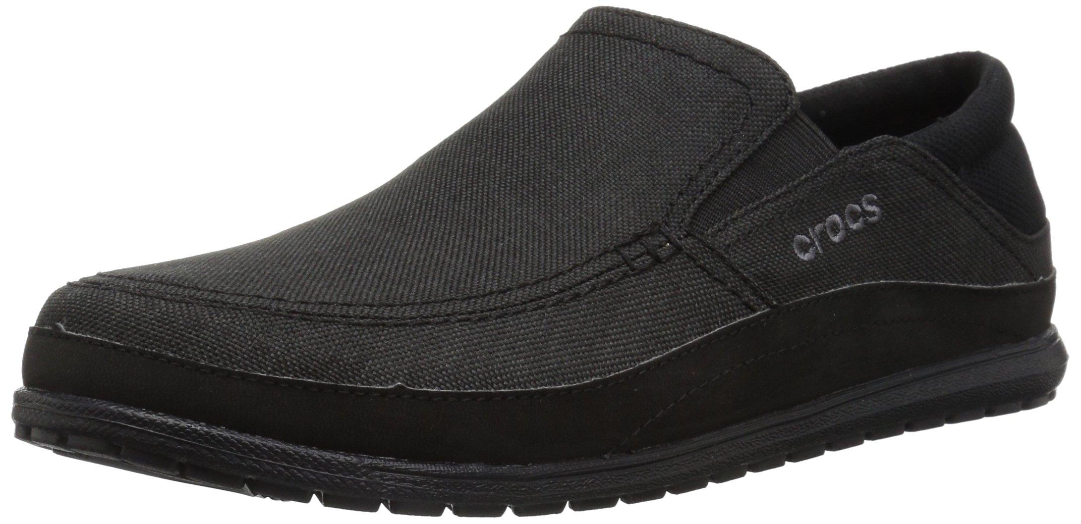 Crocs Men's Santa Cruz Playa Slip-On, Black/Black, 13 M US by Crocs