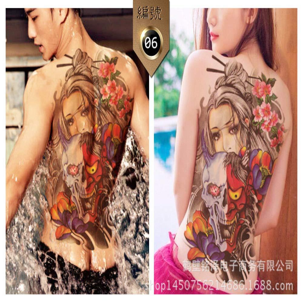 2Pcs-Full Back Tattoo Sticker Impermeable Nuevo Personaje de pez ...