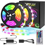 Led Strip Lights, 32.8Ft(10m) Decoration 5050 RGB Light Strip Kits with IR Remote Control 12V Power Supply Flexible Color Cha