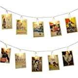 LE 20 LED Photo Clips String Light, Battery Powered, 9.84ft Warm White LED Clips Lights Fairy Twinkle Lights for Wedding Party Christmas Home Decor, Hanging Photos, Memos, Cards and Artwork