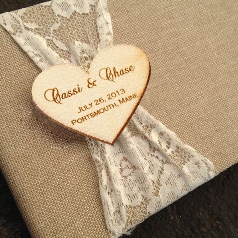 Wooden Heart Embellishments Crafts For Christmas Holiday Wedding