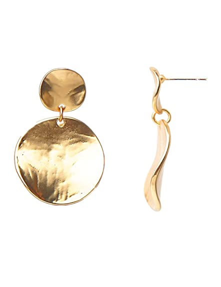 2b49ba73b Amazon.com: Lantitude 12 Styles Dangle Earrings Vintage Hammered Bohemian  Drop Earrings 18k Gold Plated Party Ball Bling Shining Gift Earrings for  Women ...