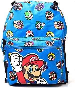 Nintendo Super Mario Bros. Mochila infantil BIO-BP0TIYSMB Azul 16.5 liters: Amazon.es: Equipaje