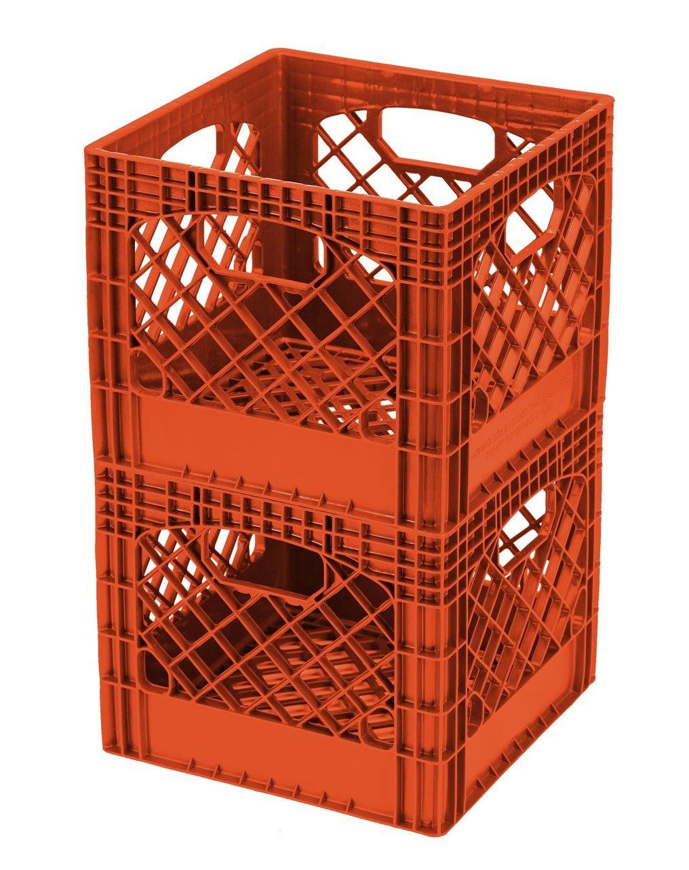 Buddeez MC01016O172C Milk Crates, 16-Quart, Orange, 2-Pack by BUDDEEZ