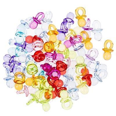 CHRISTYLE Favores de la ducha decoraciones de partido del mini chupetes Acrílico Multicolor: Hogar