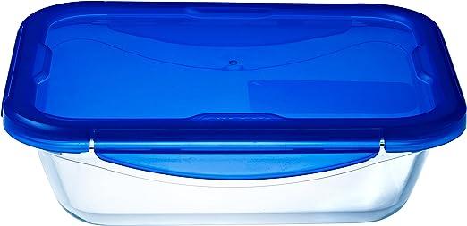 Pyrex Cook & Go - Recipiente rectangular de vidrio con tapa 100 ...