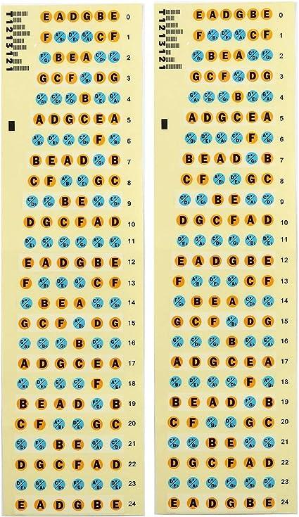 Adhesivos de Nota de Diapasón de Guitarra Pegatina del Mapa de ...