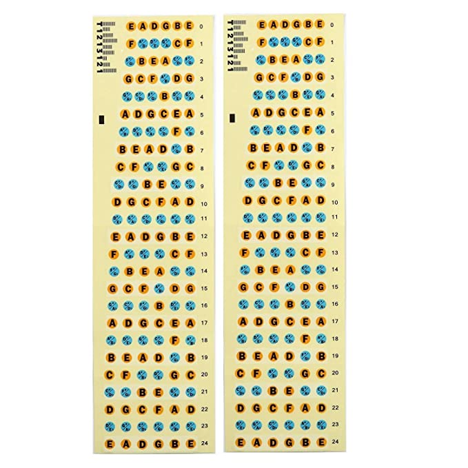 Adhesivos de Nota de Diapasón de Guitarra Pegatina del Mapa de Trastes de Diapasón para Práctica de Aprendiz Principiante (2 paquetes) oferta por Afuaim: ...