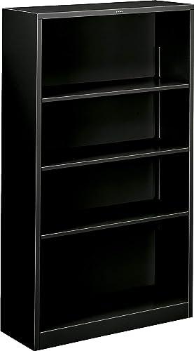 Best modern bookcase: HON 4 Shelf Metal Bookcase
