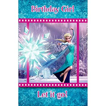 Amazon Disney Frozen Elsa 3d Holographic Birthday Girl Handmade