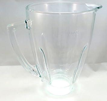 "Oster 124461 – 000 – 000 redondo cristal jarra de batidora, 5 ""apertura"