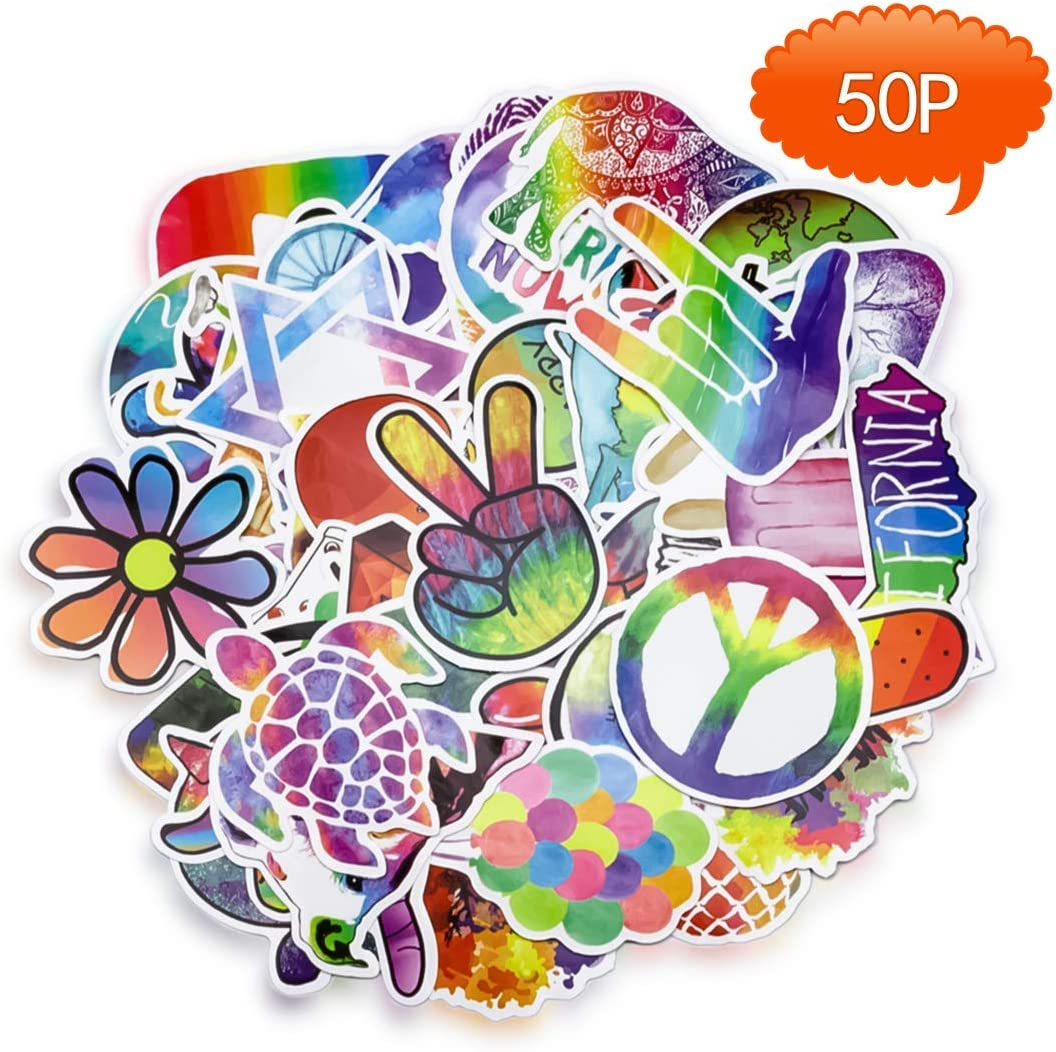 YAWALL Cool Stickers for Laptop Water Bottles Decorative Laptop Skin Dacals