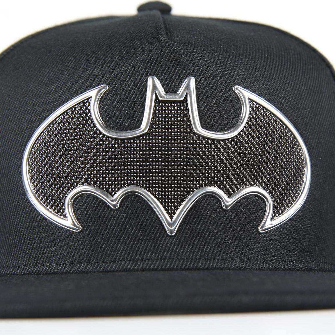 Taglia Produttore: 56 Gris Gris Artesania Cerda Gorra Visera Plana Logo Batman Cappellopello Medium Grigio Bambino