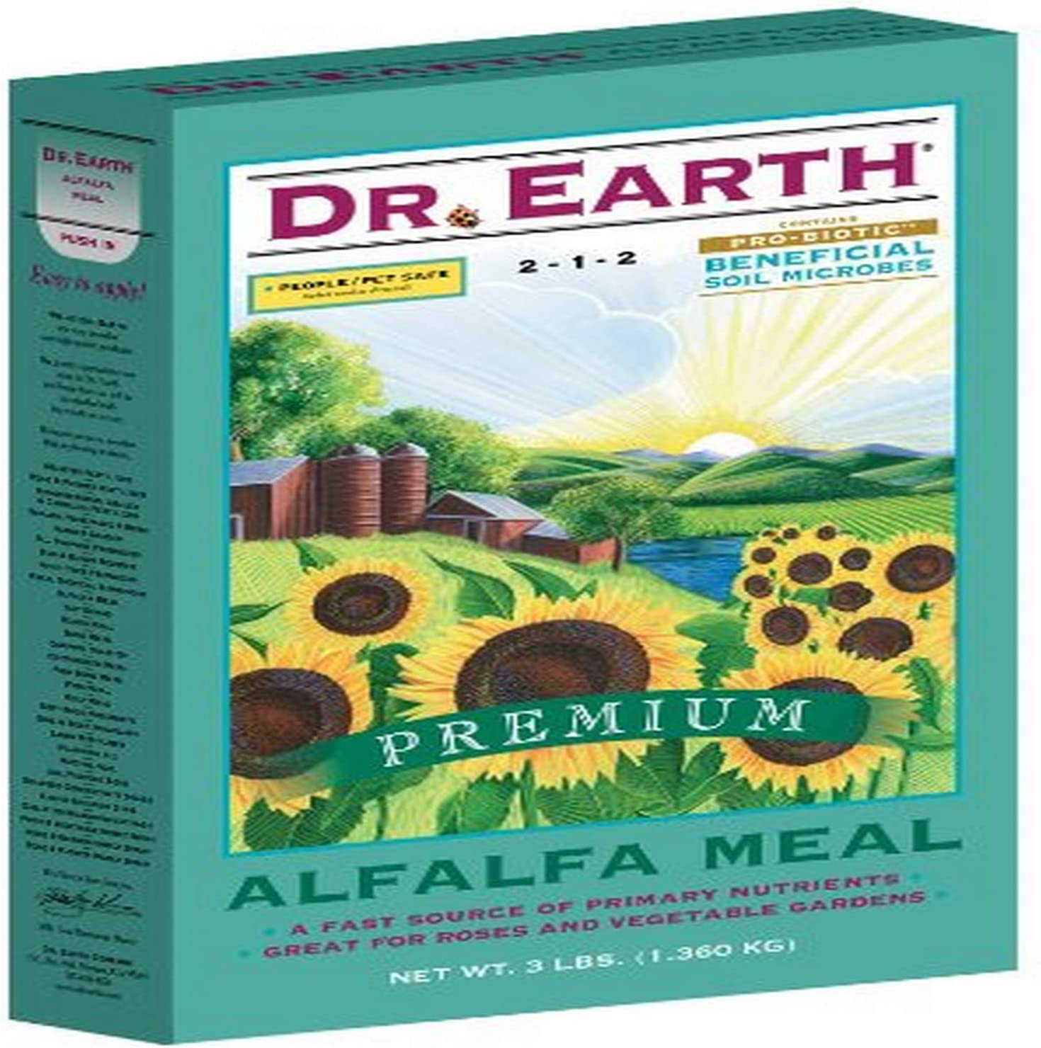 Dr. Earth 720 Alfalfa Meal 2-1-2 Boxed, 3-Pound,Multicolor