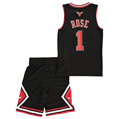 promo code 29fc9 a32fd adidas NBA Chicago Bulls Derrick Rose nº1 Mini-Kit Basketball Set for  Youth  Amazon.co.uk  Clothing