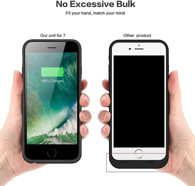4.7 Pulgadas 6000mAh Funda Cargador Portatil Ultra Capacidad Carcasa Bater/ía Recargable Bater/ía Externa para iPhone 7//8//6//6s Ekrist Funda Bater/ía para iPhone 7//8//6//6s