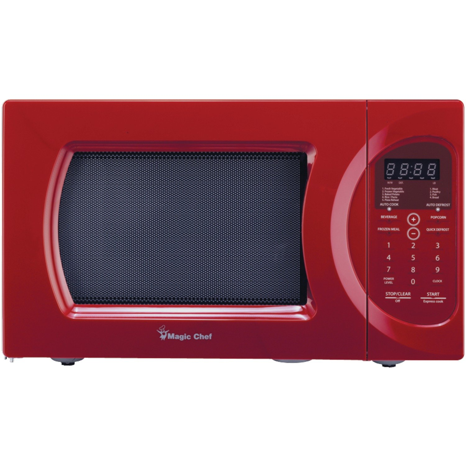 Red Microwave Ovens Magic Chef MCD992R Compact Oven Main View