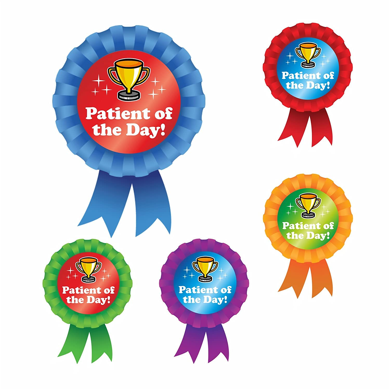 Star Patient of the Day Rosette Stickers