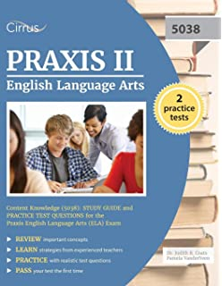 Amazon com: Praxis II Middle School English Language Arts (5047