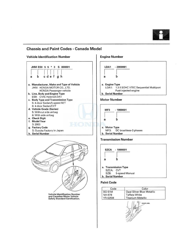 Bishko Automotive Literature 2003 Honda Civic Hybrid Wiring Diagrams Shop Service Repair Manual Cd Engine Drivetrain