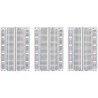 ELEGOO 3 Piezas Breadboard Placa Prototipo Sin Soldaduras con 400 Puntos Realizado en PCB Junta Breadboard Proto Shield de Distribución Bloques de Conexión para Arduino UNO R3 Mega 2560 Nano