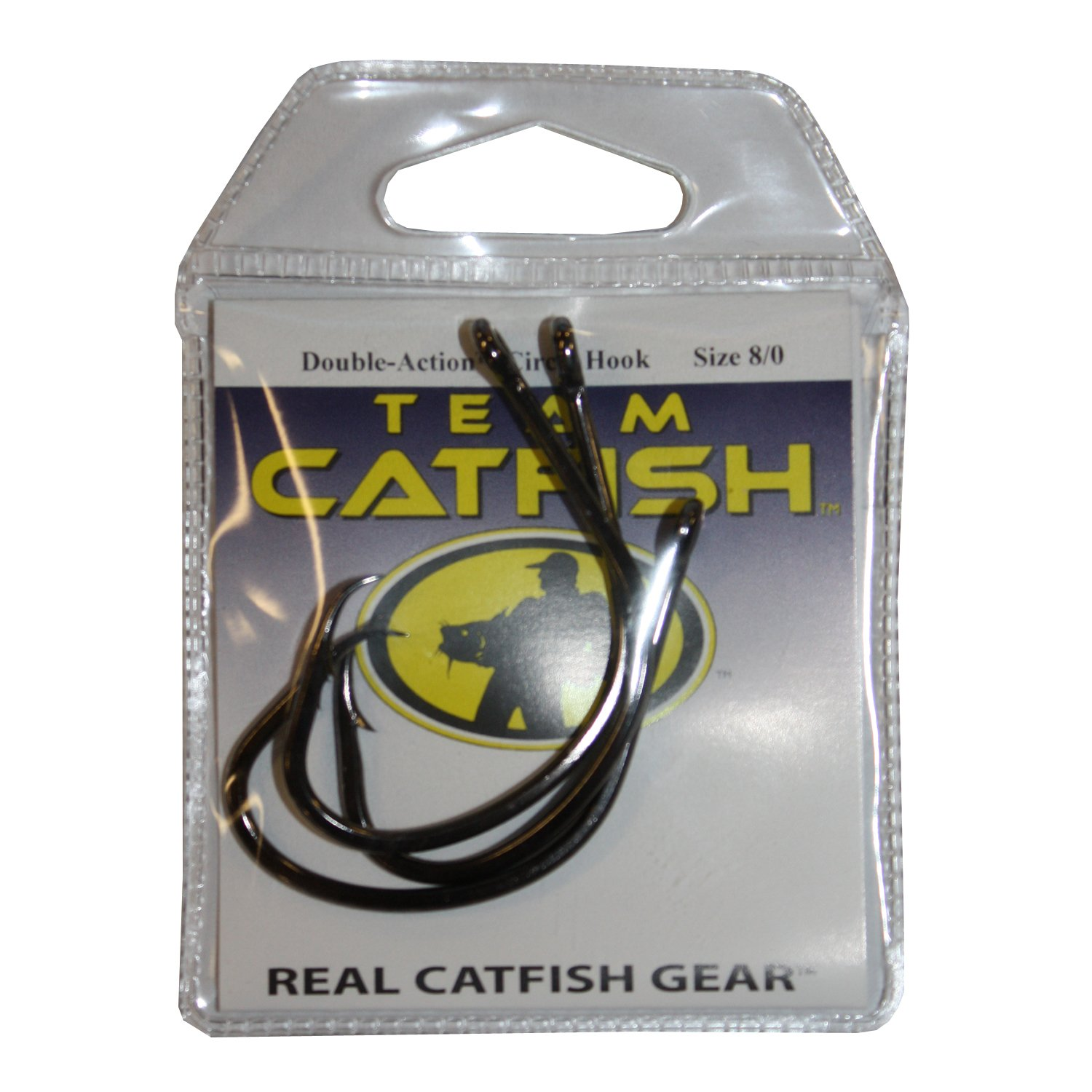 Team Catfish TC81Z8/0 Double Action Nickel Hook, Black