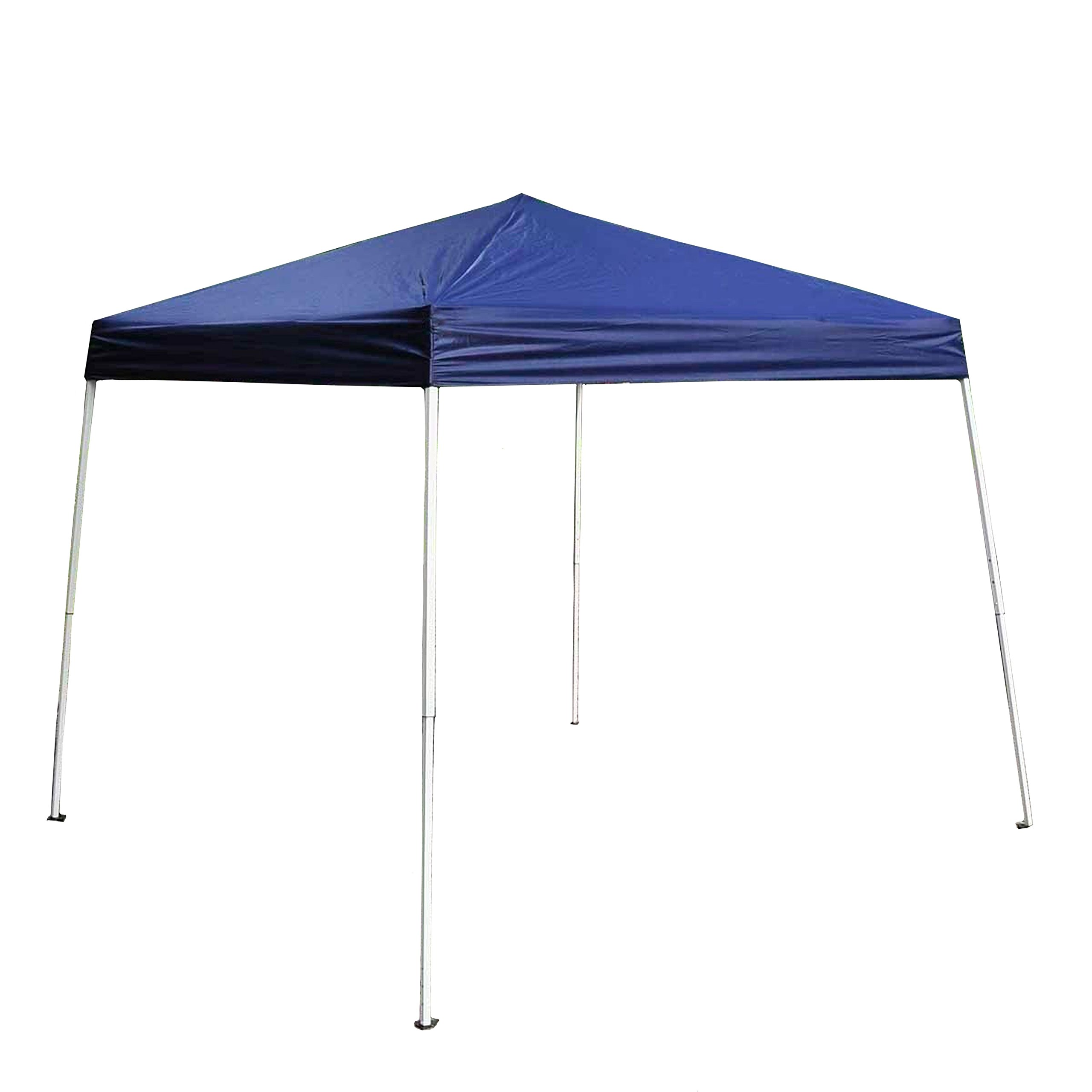 ALEKO GAZ8-10X8-10B Foldable Popup Polyester Gazebo Canopy Patio Coffee Shelter 8 x 8 Feet Blue