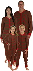 Sleepyheads Family Matching Red & Green Thermal Onesie's