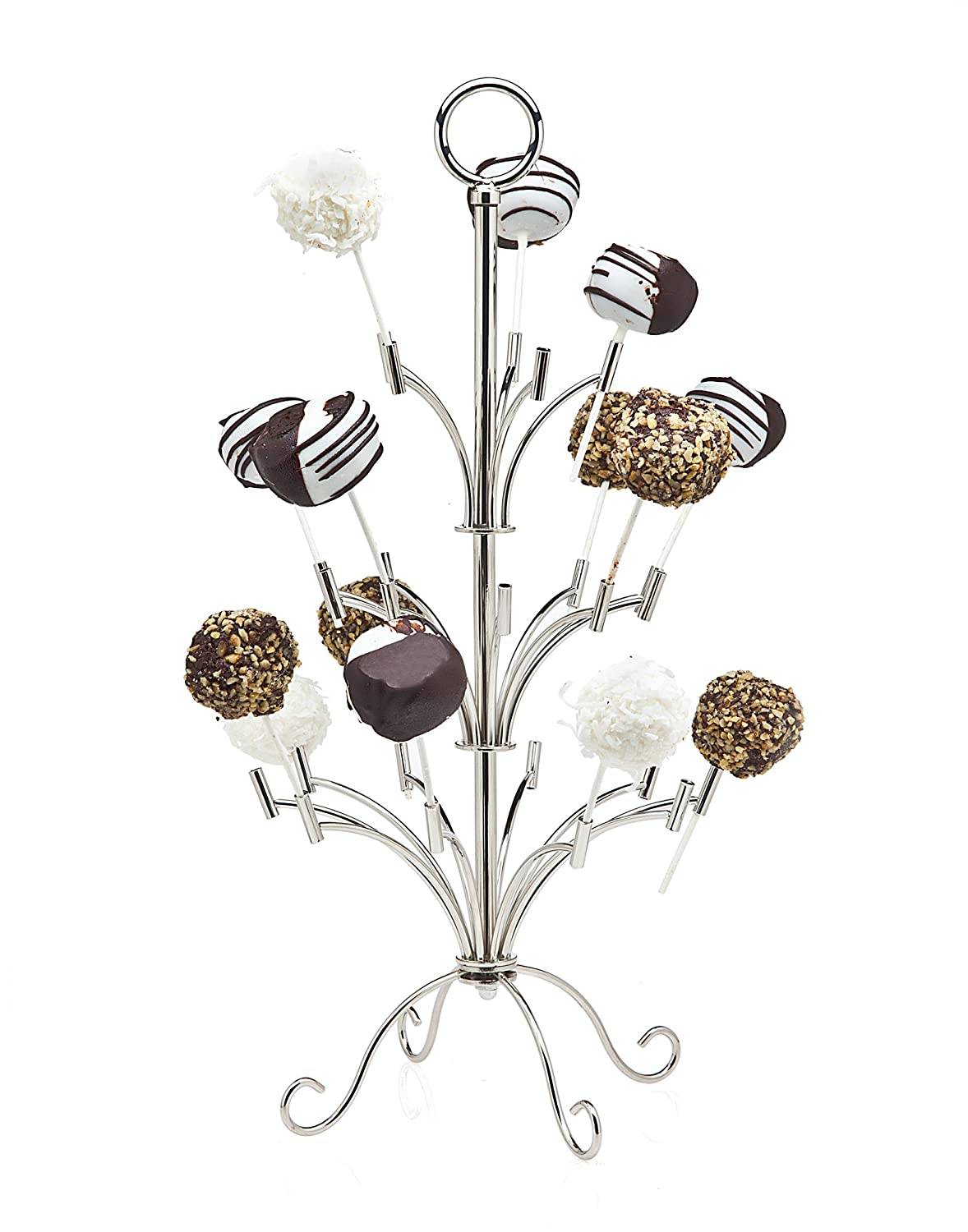 Silver Cake Pop Holder - Holds 25 Pieces Godinger Silver Art