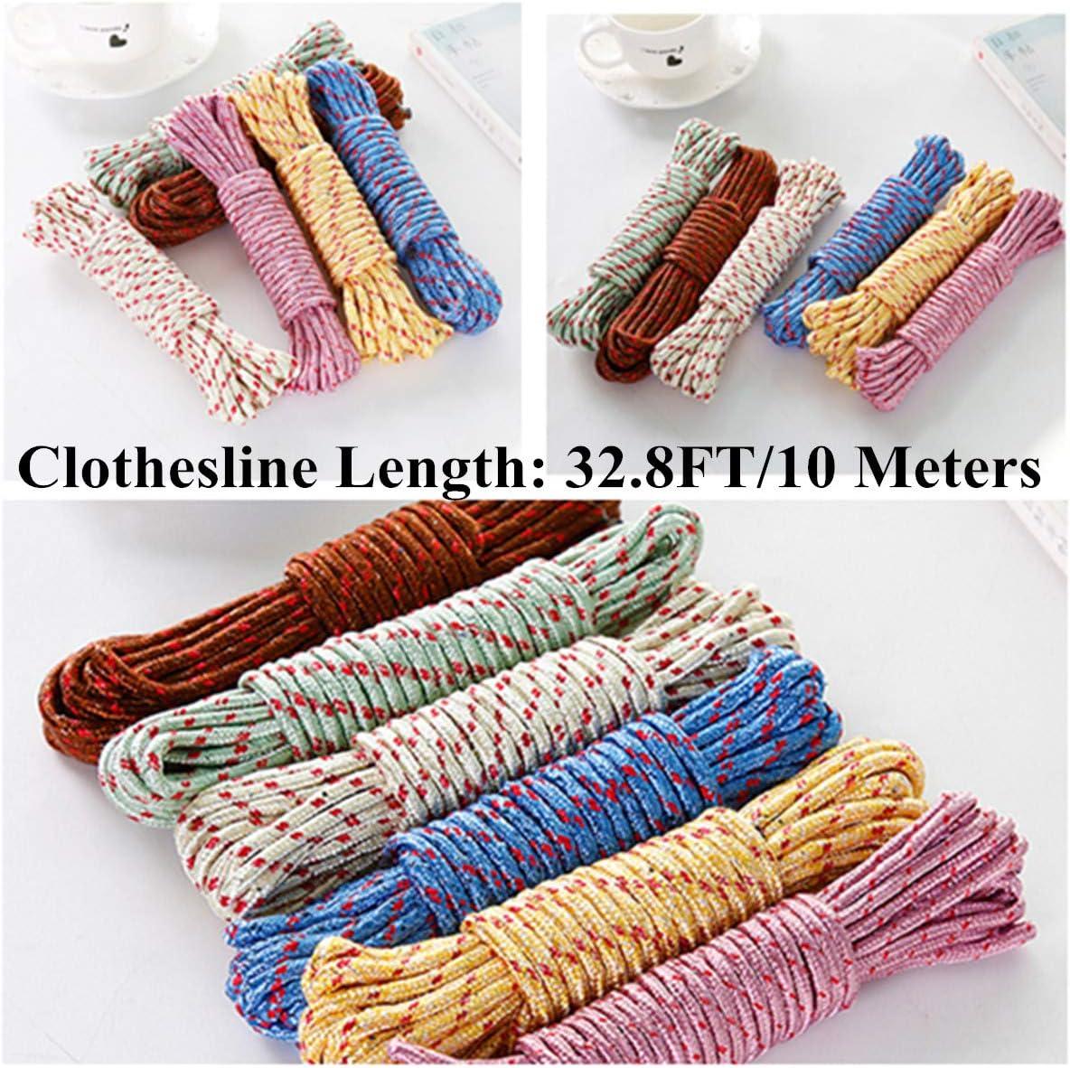 DFC9 Ropes Nylon Rope Lash Clothesline Camping Tarp Ropes Belt Nylon Camping