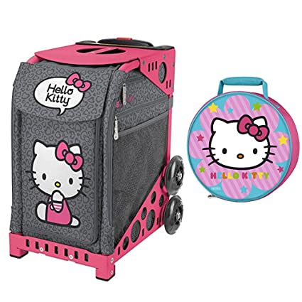 4bef2a372b Image Unavailable. Image not available for. Color  ZUCA Hello Kitty Leopard  Bag   Pink Frame ...