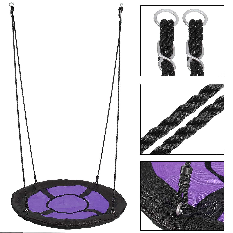 ZENY 40 Saucer Spinner Tree Swing Nest Swing for Kids,Nylon Rope with Padded Steel Frame,for Swing Set or Tree