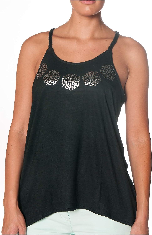 KOALAROO ALPHADVENTURE Camiseta Negra De Tirantes con Dibujo En El Cuello Imara (XL): Amazon.es: Ropa y accesorios