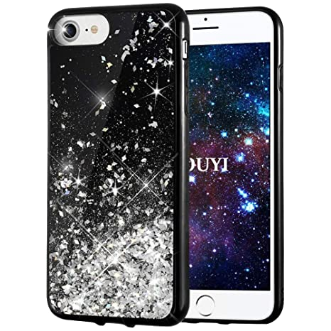 coque iphone 8 noir brillant