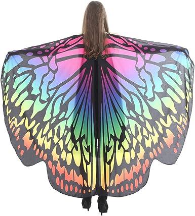LEEDY alas de mariposa para adultos, disfraz de poncho para ...