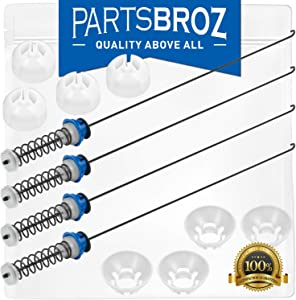W10189077 Suspension Rod Kit for Whirlpool Washing Machines by PartsBroz - Replaces Part Numbers W10820048, AP5985113, 280144, 8564009, 8566146, PS11723157, W10820048VP