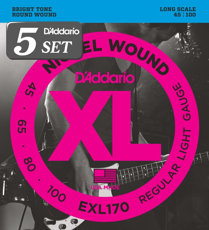 D'Addario ダダリオ ベース弦 ニッケル Long Scale .045-.100 EXL170 x 5セット 【国内正規品】 B009RIK768 .045-.100.045-.100