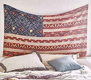 """American Flag Tapestry Wall Decor Fabric Wall Hanging Home Decor,60""""x 80"""",Twin Size"""