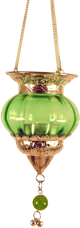 Orange Guru-Shop Orientalisches Glasteelicht Windlichter /& Teelichthalter H/änge Teelicht 14x10x10 cm Farbe: Orange