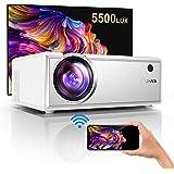 Proyector,YABER Mini Proyector Portátil 5500 Lúmenes Proyector WiFi Soporta Full HD 1080P Vídeo Proyector Cine en Casa…