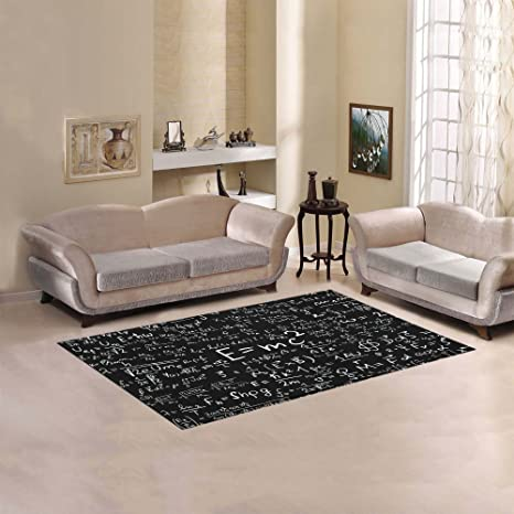 Artsadd Custom Rug Brainstorm Physics Formula Area Rug 5x33 Floor