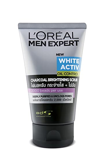 L'Oreal Paris Men Expert Charcoal White Activ Oil Control, 100ml Face Wash at amazon
