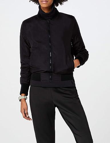 7e607d5ec Urban Classic Women's Ladies Light Bomber Jacket: Amazon.co.uk: Clothing
