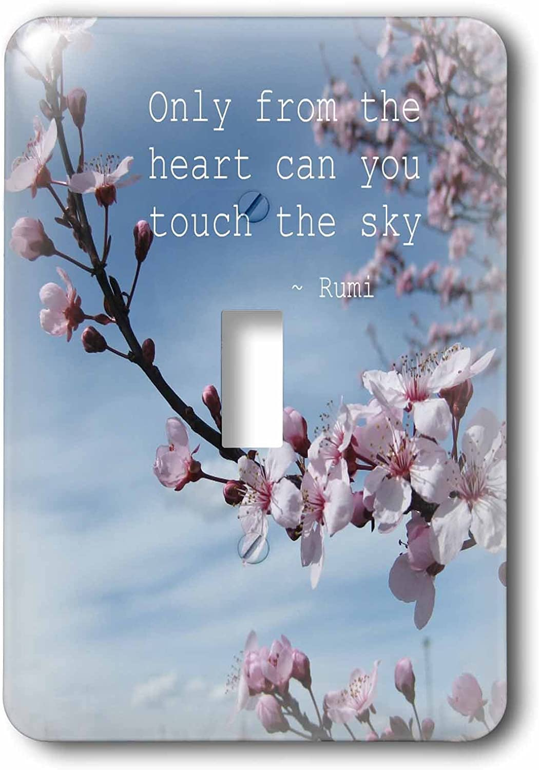 3drose Lsp 30863 1 Inspirational Zen Cherry Blossom Rumi Floral Wisdom Quotes Toggle Switch Multicolor