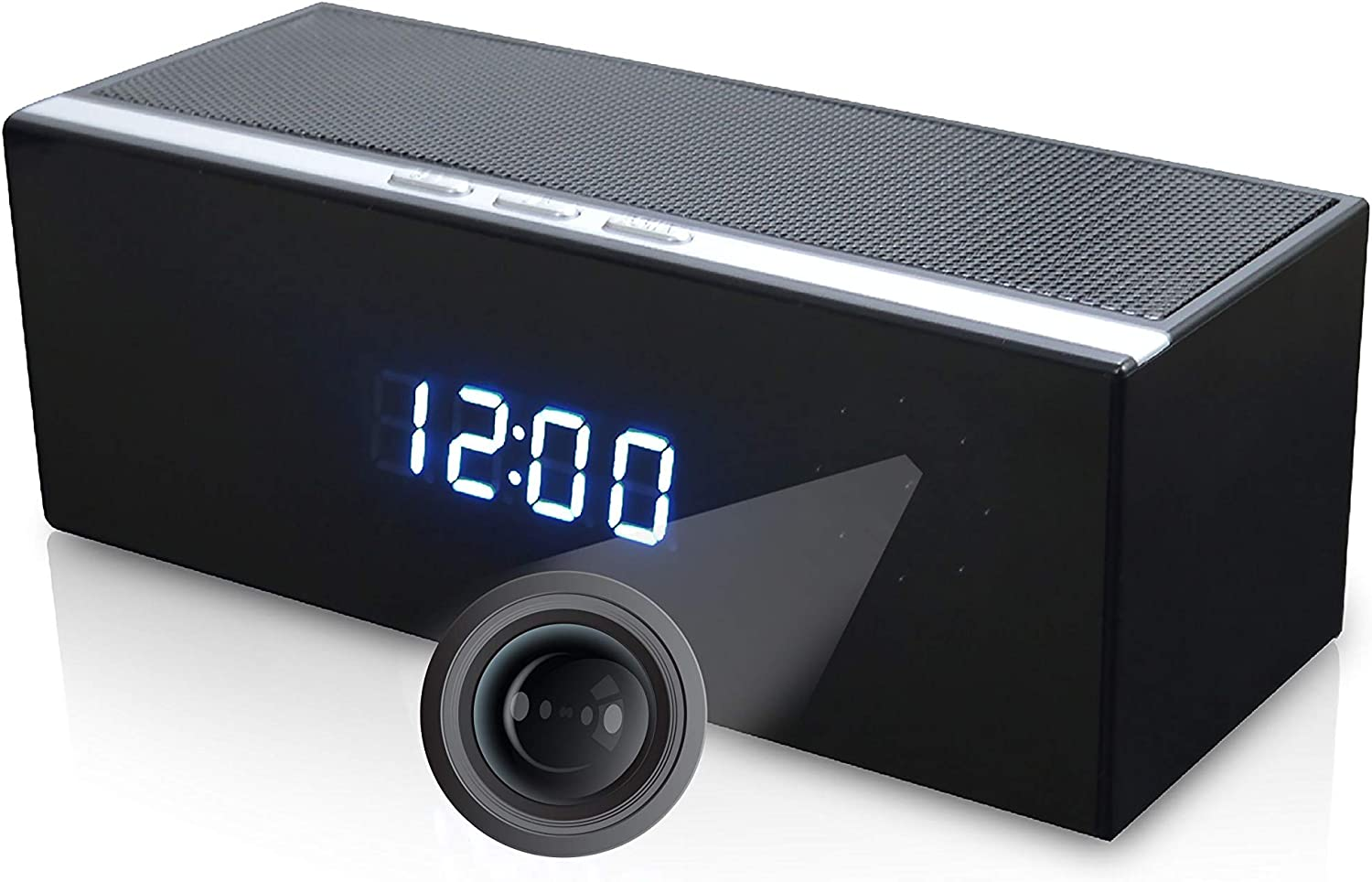 LizaTech Bluetooth Speaker Hidden IP Camera - 1080p Camera with Night Vision and Motion Detection 719Wolr7RZLSL1500_