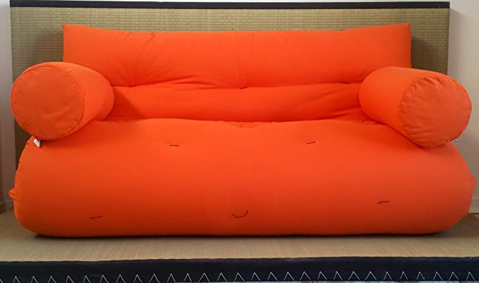 Sofá Cama futón con reposabrazos Double Face Base Tatami ...