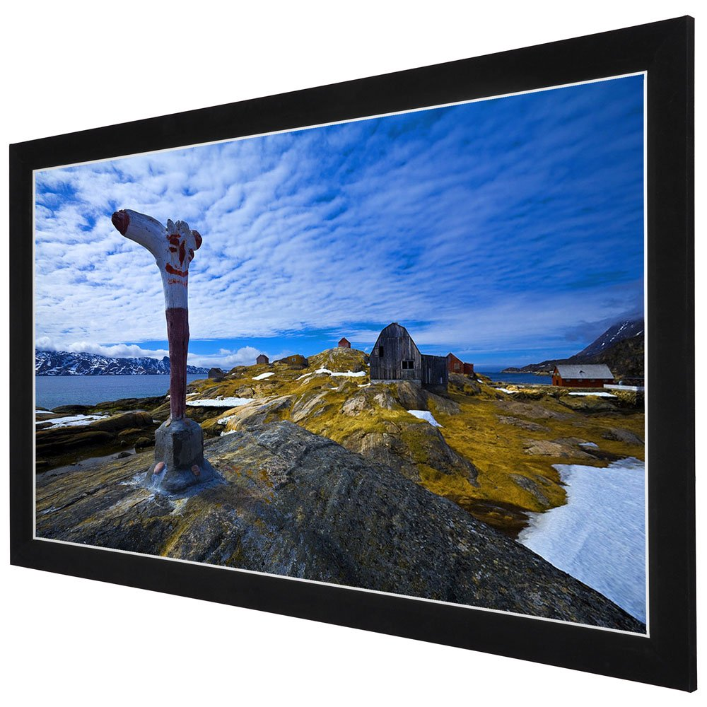 Yescom 100'' Diagonal 16:9 HD Fixed Frame Projector Screen 87''x49'' Viewing Area w/ 3'' Aluminum White