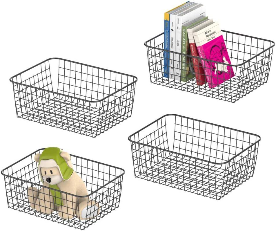 Metal Wire Storage Organizer Bin Basket